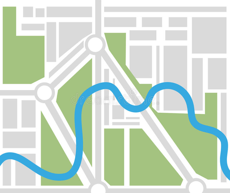 Naamlooze stadskaart vector illustratie
