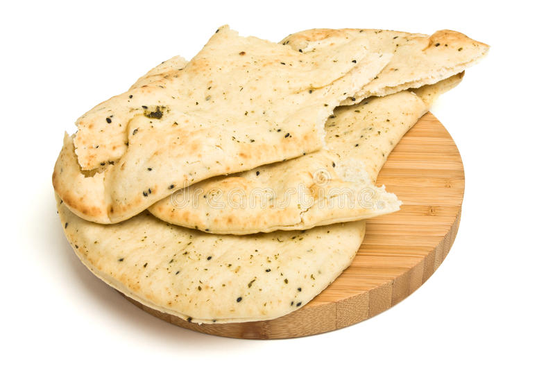 Naan Bread. Indian unlevened bread side dish know nas Naan Bread usually served with curry royalty free stock images
