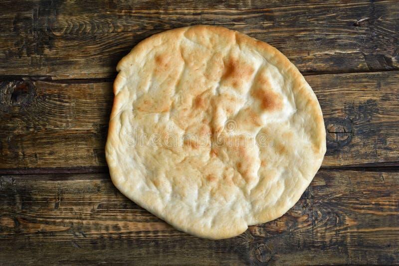 Naan bread, top view royalty free stock photos