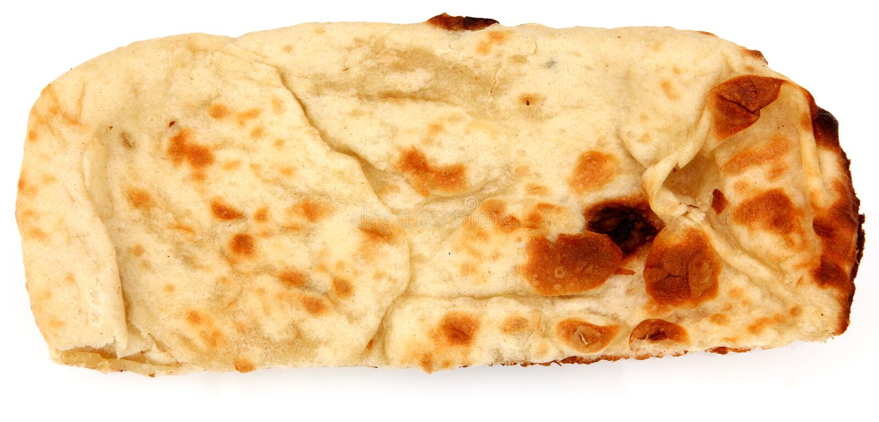 naan indien de pain photographie stock libre de droits