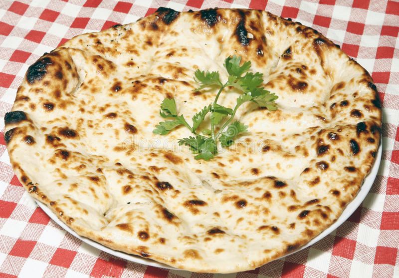 Naan in plate royalty free stock photos