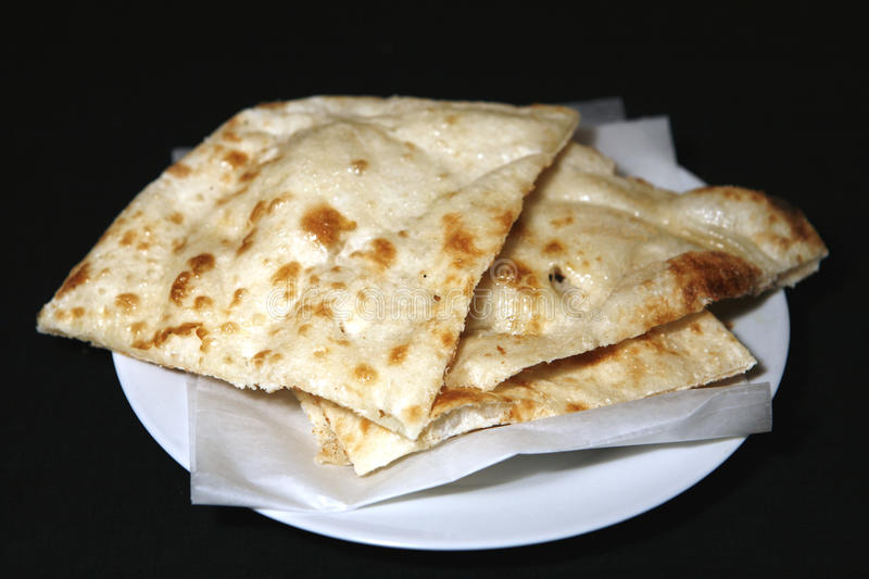 Naan in plate stock image