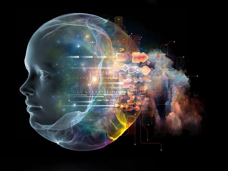Naar Digitaal Verstand vector illustratie