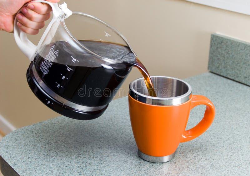 Naar huis Gebrouwen Koffie royalty-vrije stock foto