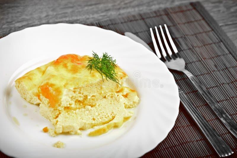 Naar huis gemaakte omlet stock afbeeldingen