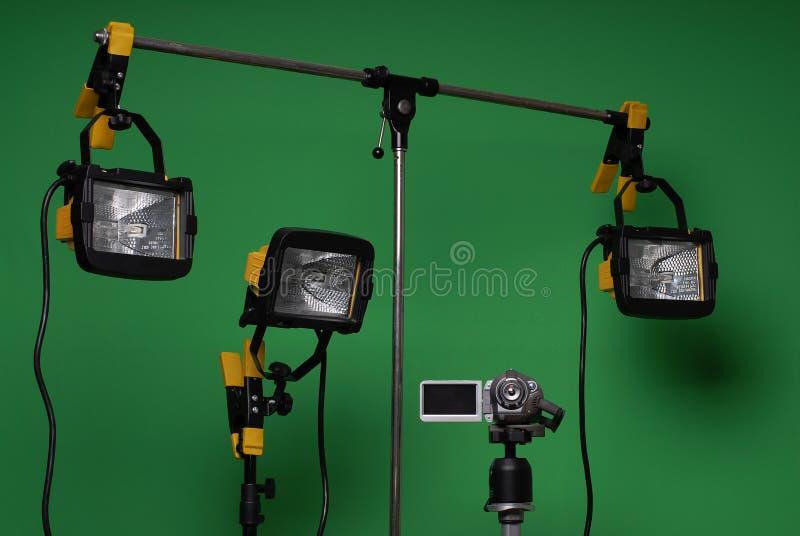 Naar huis gemaakte videostudio stock afbeelding