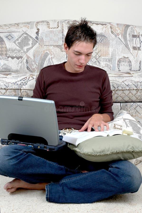 Naar huis Studie stock foto