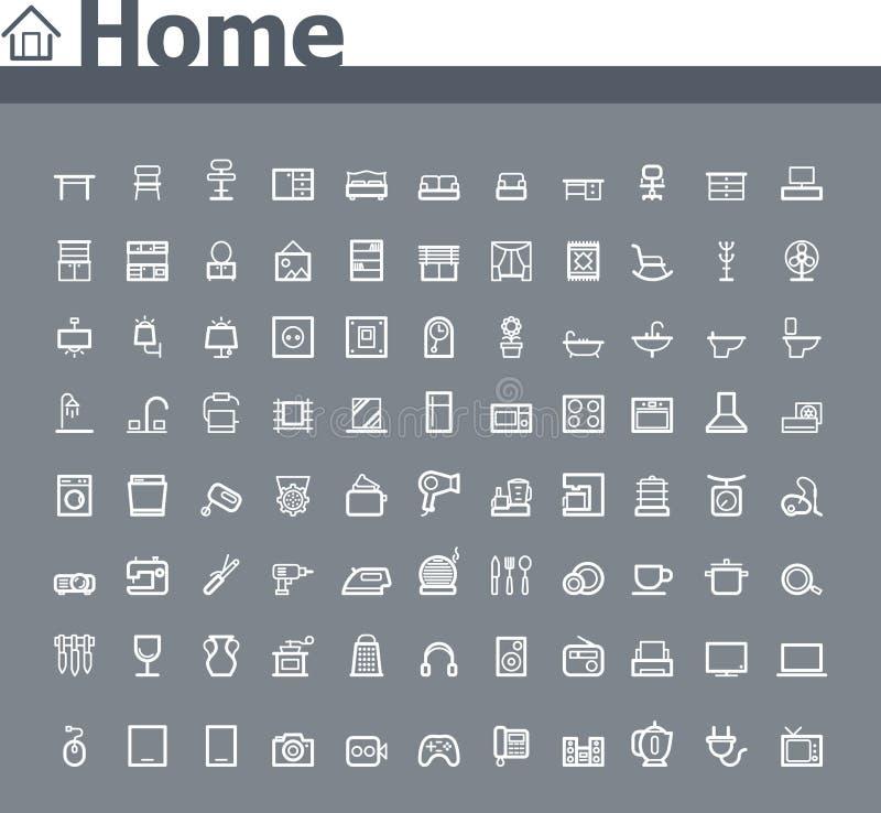 Naar huis verwante pictogramreeks
