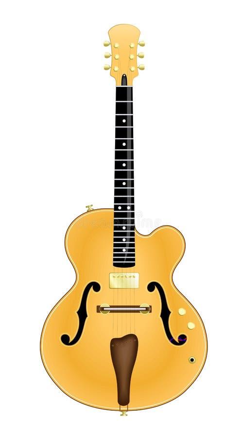Naar maat gemaakte Jazz Guitar vector illustratie