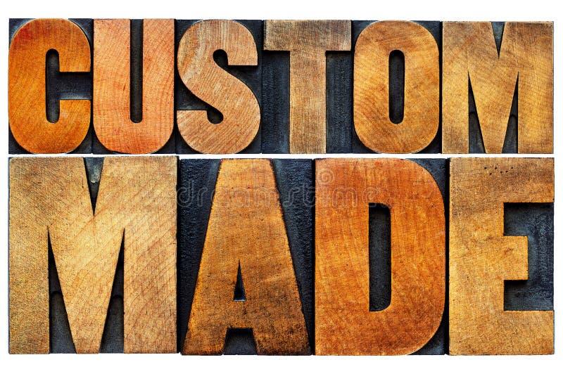 Naar maat gemaakte woord abstracte typografie royalty-vrije stock afbeelding