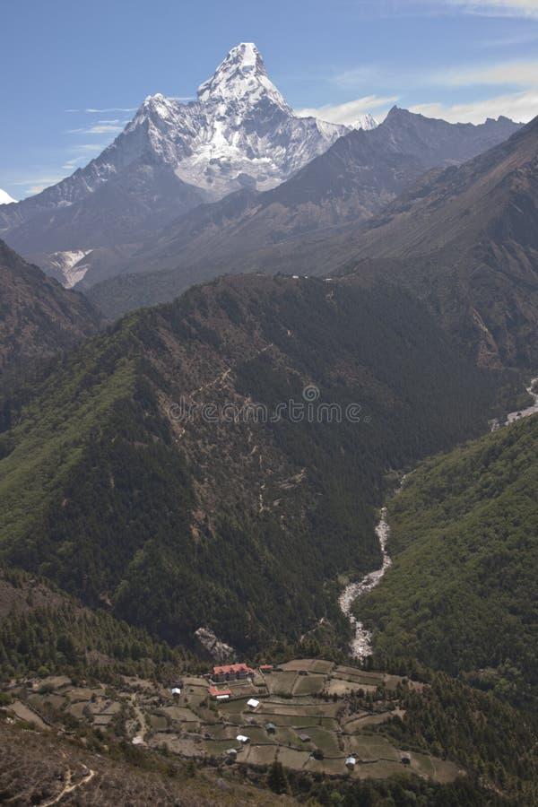 Naar Onderstel Everest stock fotografie
