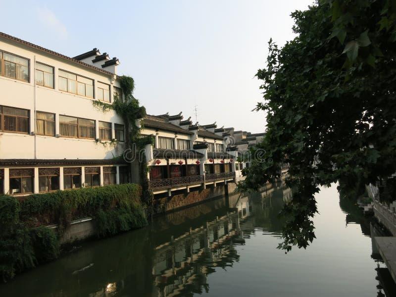 Naast qinhuairivier stock afbeelding