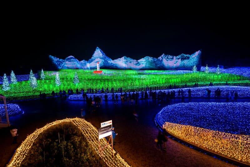 Nabana żadny Sato zimy iluminacja zdjęcia royalty free