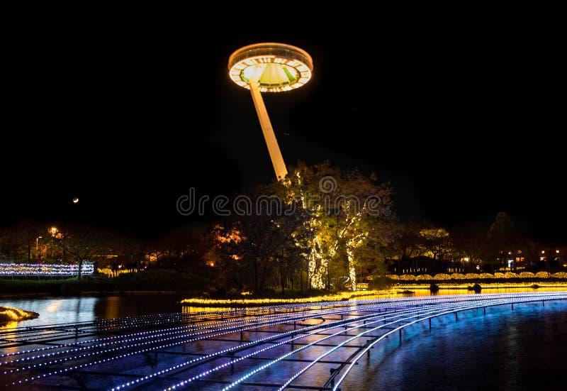 Nabana нет Sato, светлый фестиваль на Nagashima, префектуре Mie r стоковые изображения rf