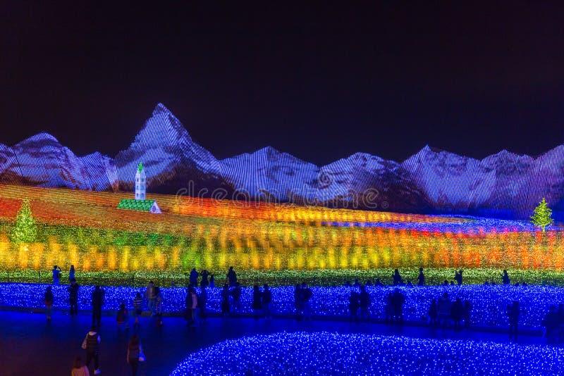 Nabana отсутствие сада Sato на ноче Нагое стоковые изображения rf