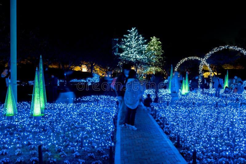 Nabana n?o Sato, festival claro em Nagashima, Mie Prefecture fotos de stock royalty free