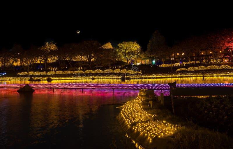 Nabana n?o Sato, festival claro em Nagashima, Mie Prefecture jap?o imagem de stock royalty free