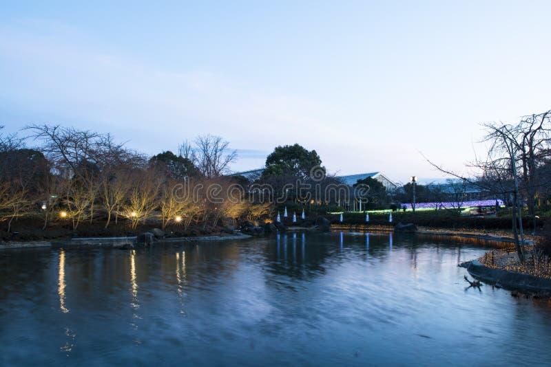 Nabana No Sato - An amazing light park in in Kuwana City stock photo