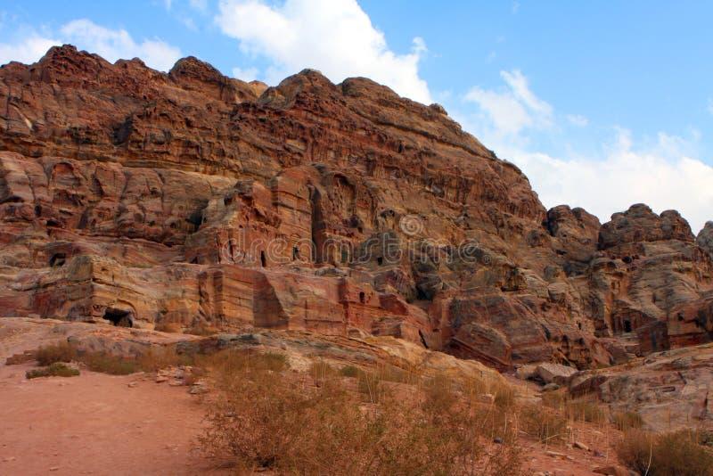 nabatean усыпальница petra стоковое изображение