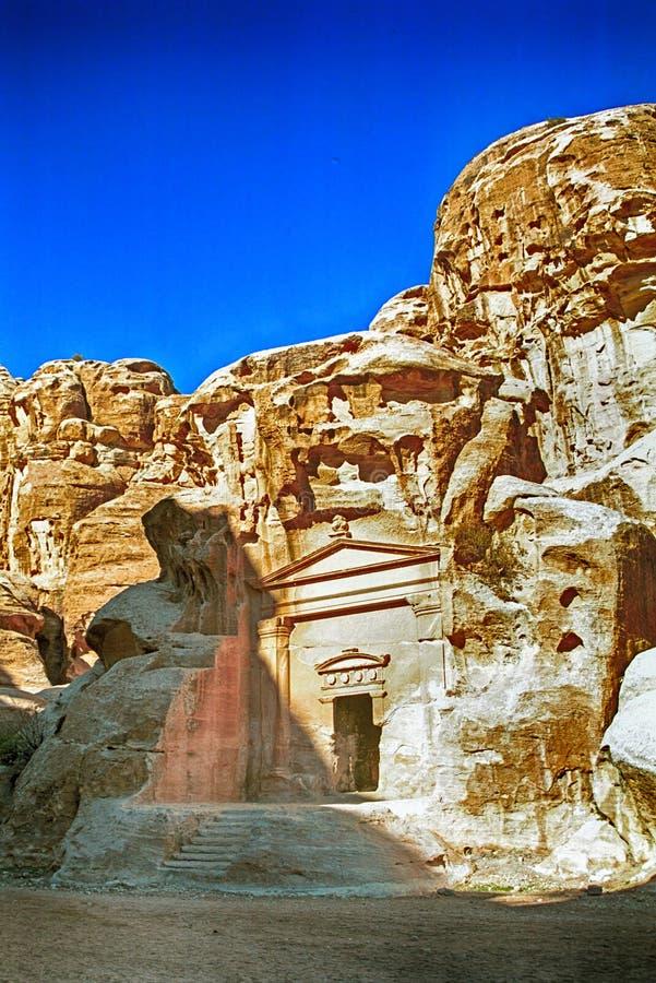 Nabatean-Ruinen, Al ` Barid, Jordanien stockbilder