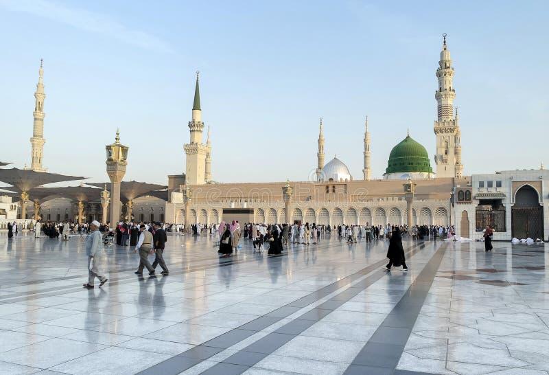 Nabawi清真寺早晨,麦地那,沙特阿拉伯 库存照片