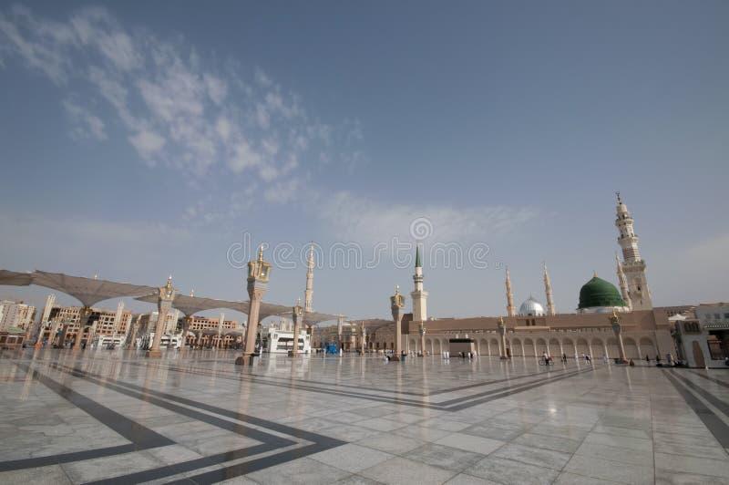 Nabawi Medina的清真寺,沙特阿拉伯。 免版税库存图片