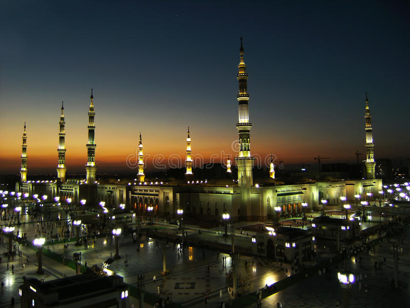 Nabawi Moschee lizenzfreie stockbilder