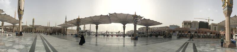 Nabawi moské profetmoskén fotografering för bildbyråer
