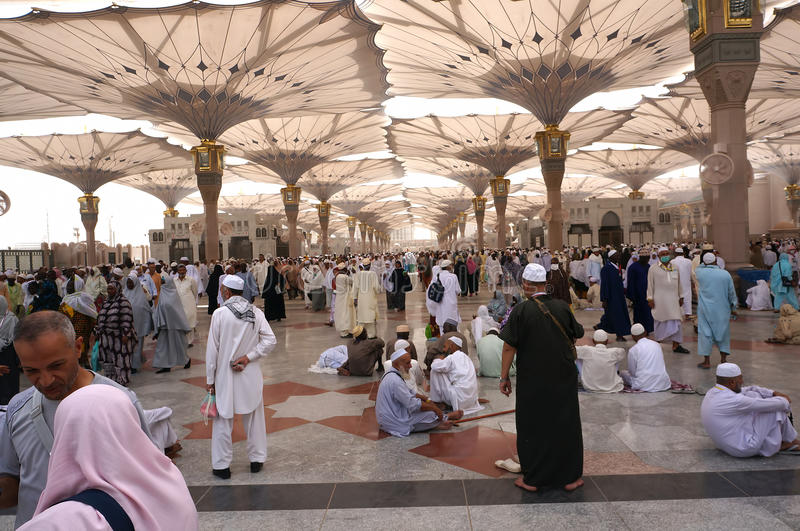 Nabawi mosque squares in Saudi Arabia royalty free stock photos