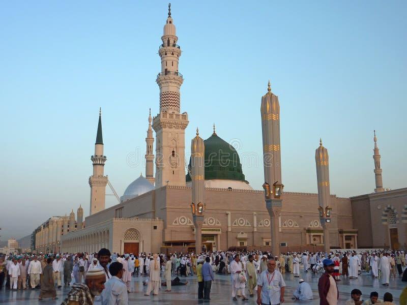 Nabawimoskee, Medina, Saudi-Arabië royalty-vrije stock afbeeldingen
