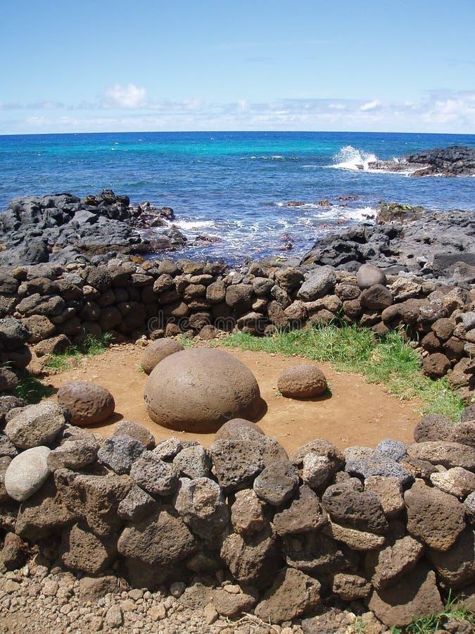 Nabel der Welt, Ostern-Insel stockbilder