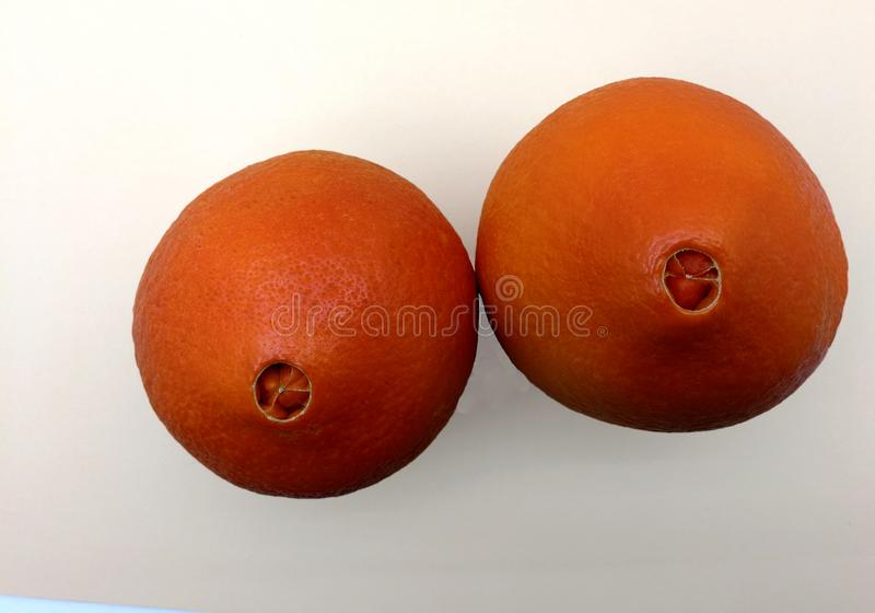 Nabel von frischen Orangen stockfotografie