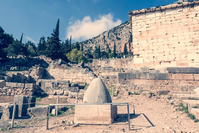 Nabel zur Welt am Tempel von Apollo lizenzfreie stockfotografie