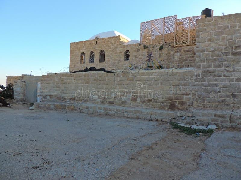 Nabi Moosa-Moschee und -grab nahe Jerusalem lizenzfreie stockbilder