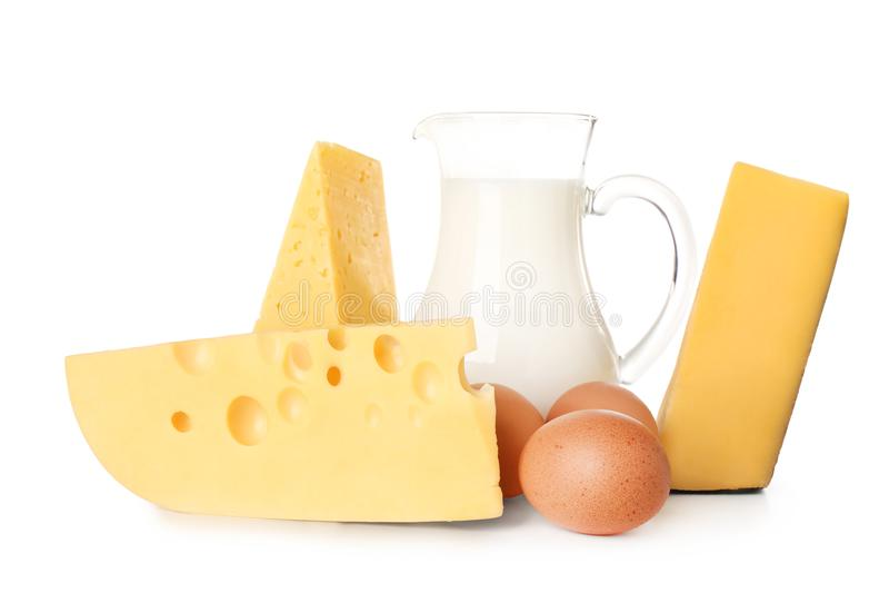 Nabiały i jajka zdjęcia stock