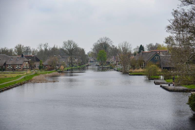 Nabij Giethoorn de Landschap fotos de archivo libres de regalías