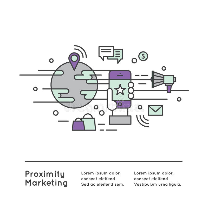 Nabijheid Marketing stock illustratie