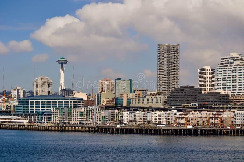 Nabrzeże i linia horyzontu, Seattle, Waszyngton zdjęcie stock