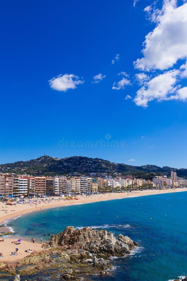 Nabrzeże Lloret de Mar Costa Brava Hiszpania fotografia royalty free