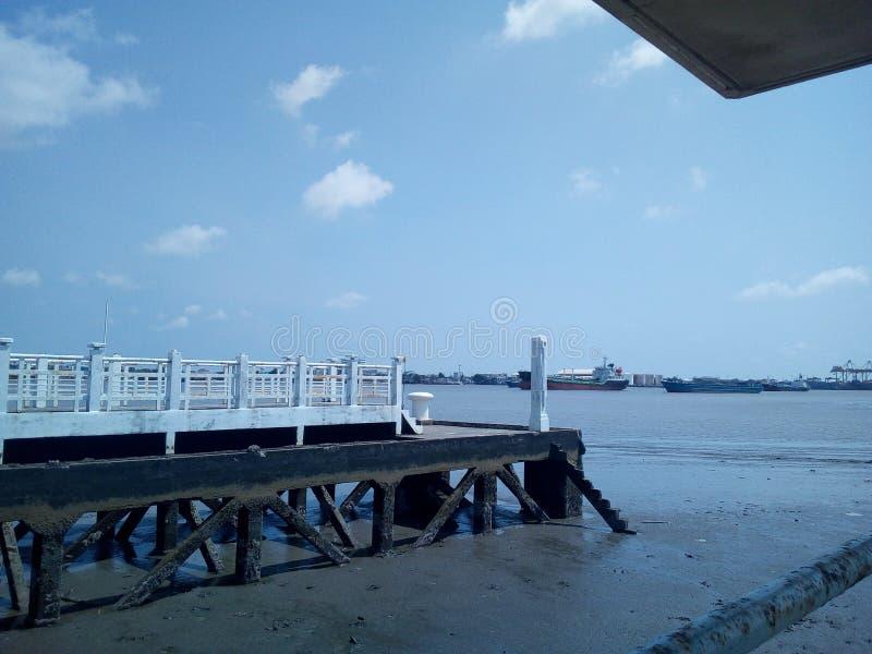 Nabrzeże pawilon w Motyliej flocie obraz royalty free