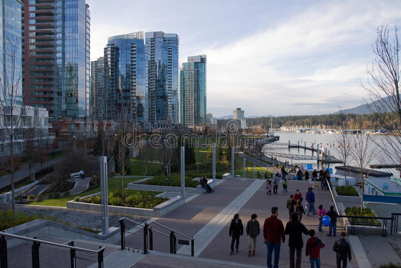 Nabrzeże w Węglowym schronieniu, Vancouver, BC, Kanada obraz royalty free