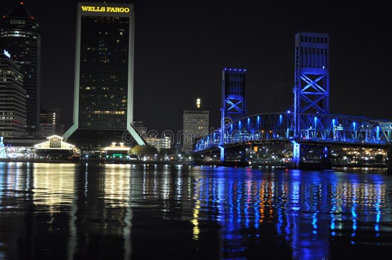 Nabrzeże widok Rivercity Jacksonville zdjęcia royalty free