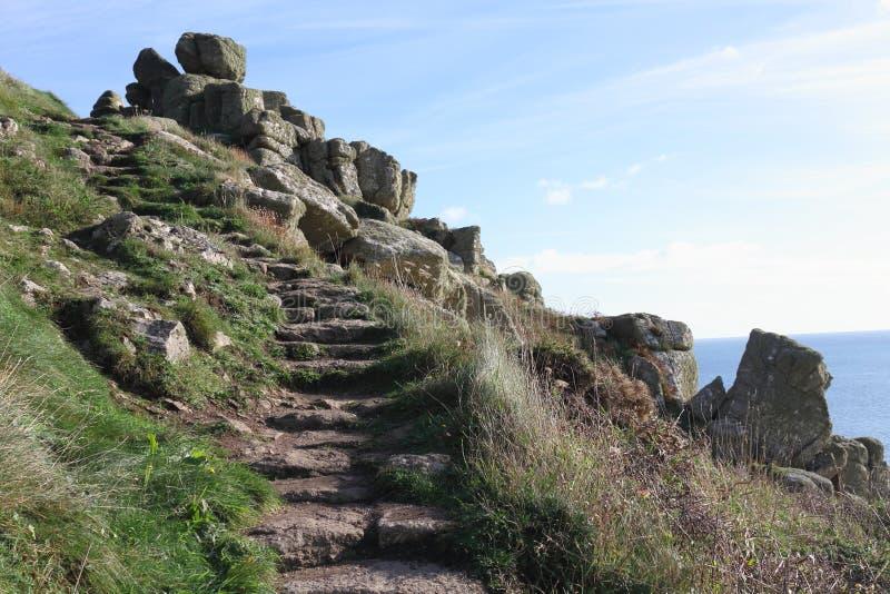 Nabrzeżna ścieżka - Cornwall, UK zdjęcie stock