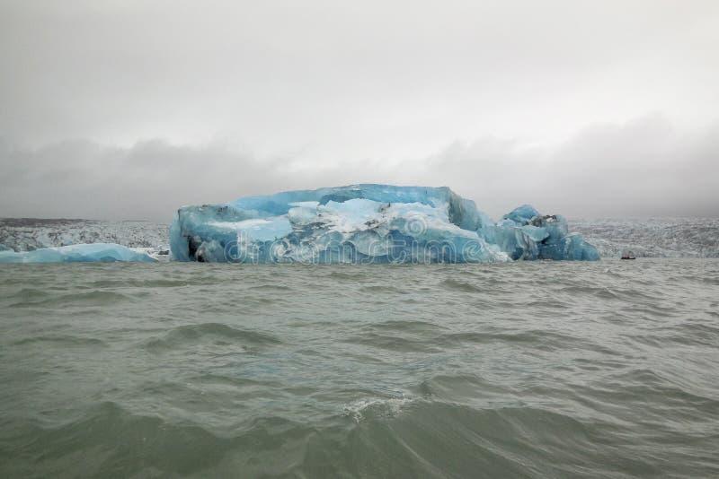Nabrzeżna góry lodowa sceneria zdjęcia royalty free