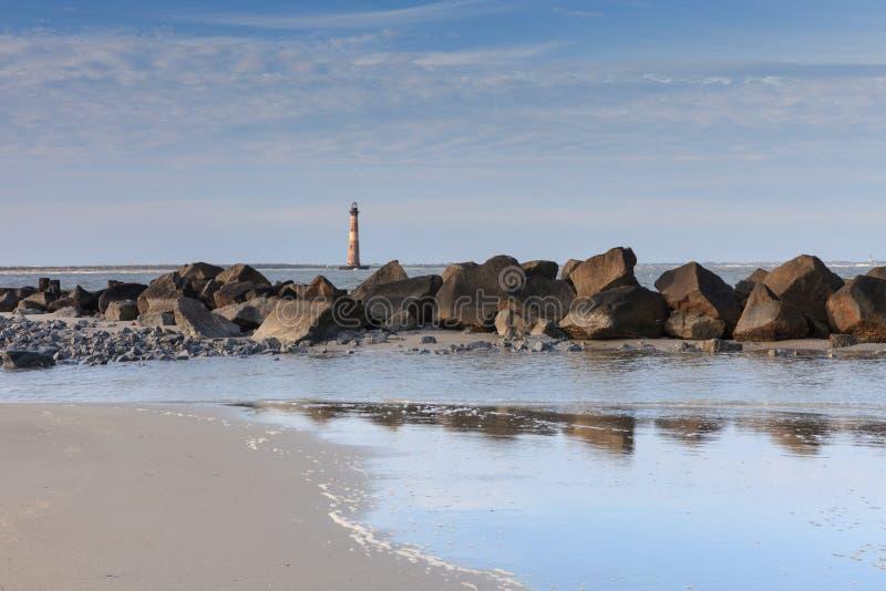 Nabrzeżna Krajobrazowa głupoty plaża Charleston Południowa Karolina obraz stock