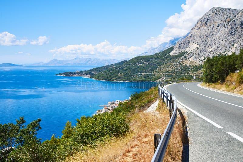 Nabrzeżna przejażdżka na Makarska Riviera, Chorwacja zdjęcia stock