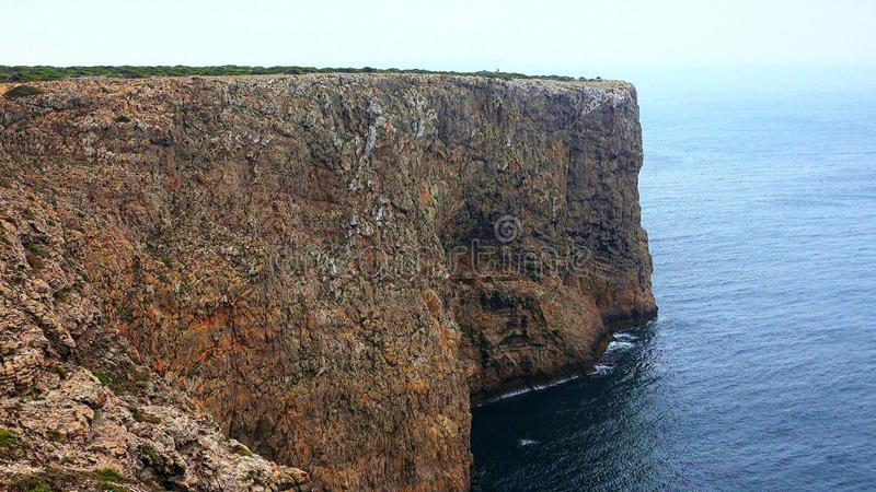 Nabrzeżne falezy Przy oceanem obraz stock