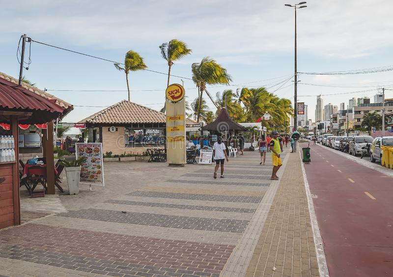 Nabrzeżne Praia De Tambau obrazy royalty free