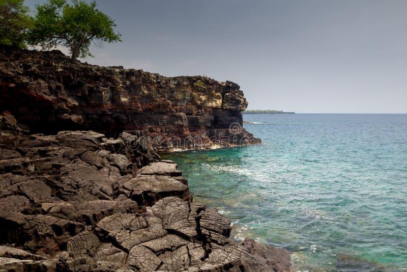 Nabrzeżny krajobraz na Dużej wyspie zdjęcia stock