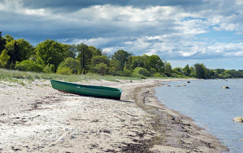 Nabrzeżny krajobraz w Kurzeme regionie Latvia, Europa obraz stock